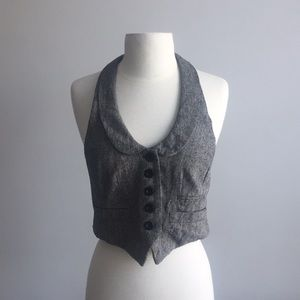 Jackets & Blazers - Grey tweed vest